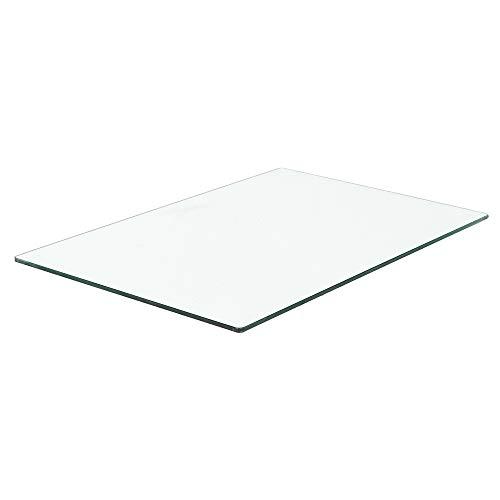Glasplatte TERRY 90x60cm 10mm Stärke Gehärtetes Glas Scheibe Bodenplatte