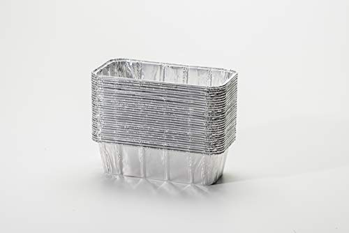 pinkada Loaf Pans – Disposable Aluminum Foil 2lb Pans, Size 8.5″ x 4.5″ x 2.5″. Perfect measurement for Homemade Cakes & Breads (30)