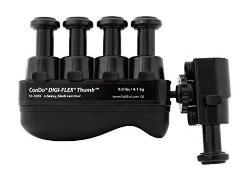 CanDo Digi Flex® Thumb | Handtrainer Fingertrainer | Handtrainingsgerät | Fingertrainingsgerät | 9,0 lb (ca. 4,1 kg) | schwarz