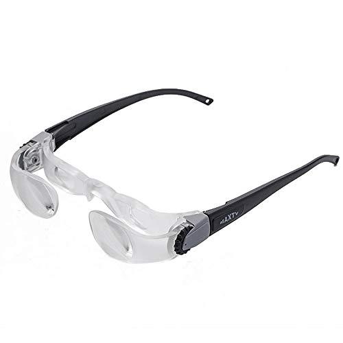 EDW Lupen Portable Amplification Big Sight Watch TV Brillen Bildschirm Lesebrille 2.1X 0 bis +300 Grad (Weitsichtigkeit)