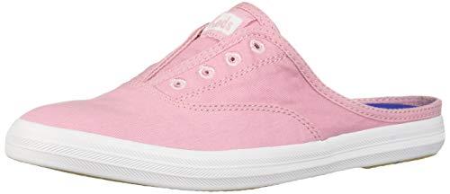 Keds Women's Moxie Mule Washed Twill Slip On Sneaker, Pink, 11