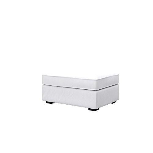 Soferia Ersatzbezug fur IKEA KIVIK Hocker, Stoff Eco Leather White