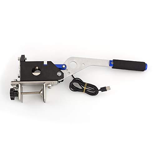 Clavier USB pour PC avec frein à main avec pince pour jeux de course G25 G27 G29 T500 FANATECOSW DIRT RALLY Bleu