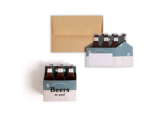 UWP LUXE Geburtstag Pop UP 3D Karte Bier Kiste 10x8cm