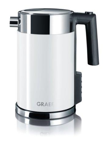 Graef WK701 - Edelstahlwasserkocher mit Temperatureinstellung, weiß (Acryl weiß), 1.5 L