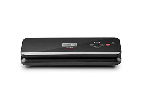 Gastroback 46013 Design Vakuumierer Advanced Pro, Sensor-Touch Bedienung 8 Liter/Min. Vakuumierleistung (0,6 bar), 120Watt, inklusive Flaschenverschluss, schwarz