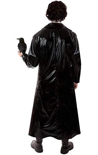 Costume da uomo travestimento rock gotico per Halloween tratto dal film Il corvo