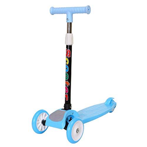 Patinete infantil Kick Scooter LED para niños de 2 a 8 años, plegable, con altura ajustable y ruedas LED intermitentes