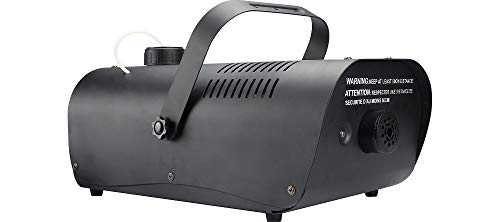 Party City 1000W Fog Machine with Alarm and Remote, Halloween Prop, Black