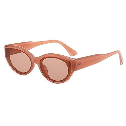 Gafas de sol retro marco ovalado personalidad pasarela marco pequeño gafas de sol gafas de sol macho/hembra universal gafas