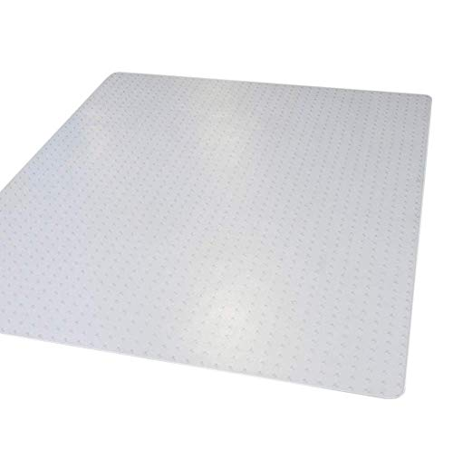 """Mastermat Office Chair Mats for Carpeted Floors, Studded Desk Floor Mat, Clear Heavy Duty for Low and Medium Pile Large 36"""" X 48"""" Thick 5/32"""" (0.145) Rectangle, Shipped Flat (1)"""