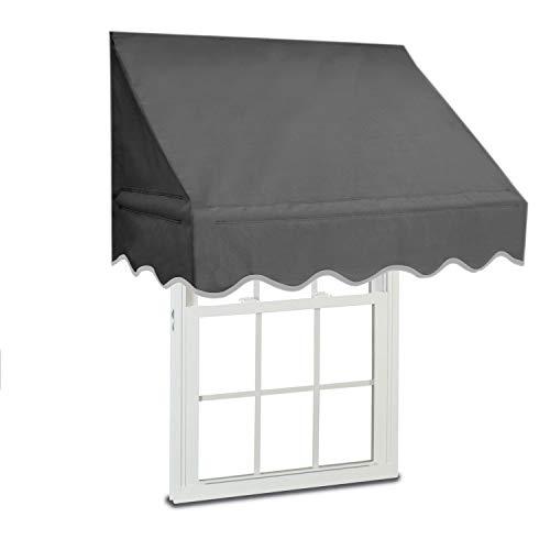 ALEKO WAW4X2GREY80 Retractable Door or Window Canopy Awning - 4 x 2 Feet - Gray