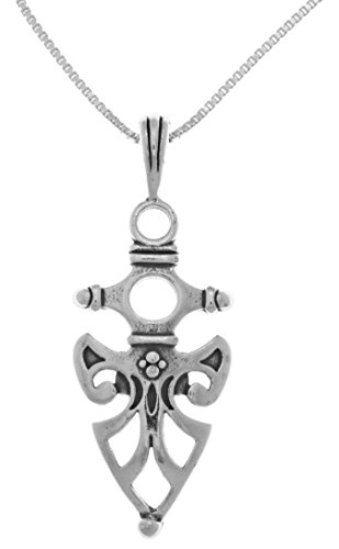 Jewelry Trends Sterling Silver Viking Protection Celtic Pendant Chain Necklace