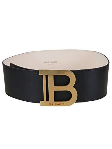 Luxury Fashion   Balmain Dames TN1A004LVLA0PA Zwart Leer Riemen   Lente-zomer 20