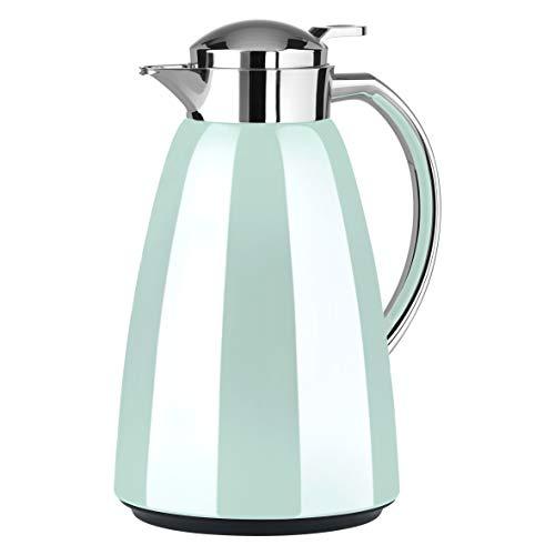 Emsa Campo Isolierkanne F4130300 | 1L Füllmenge | Quick Tip Verschluss | 100% dicht | 12h warm, 24h kalt | Premium Edelstahl | Einfache Reinigung | Pastell-Mint