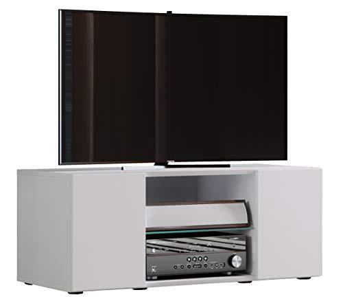 VCM TV Lowboard Fernseh Schrank Möbel Tisch Holz Sideboard Medien Rack Bank Weiß 40 x 95 x 36 cm