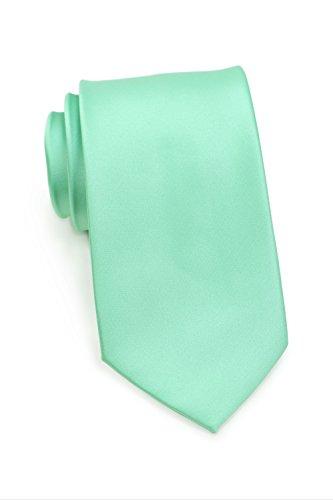 PUCCINI schmale Krawatte│6cm skinny slim Tie/Hochzeitskrawatte/Plastron/Schlips │ uni/einfarbig: Hellgrün