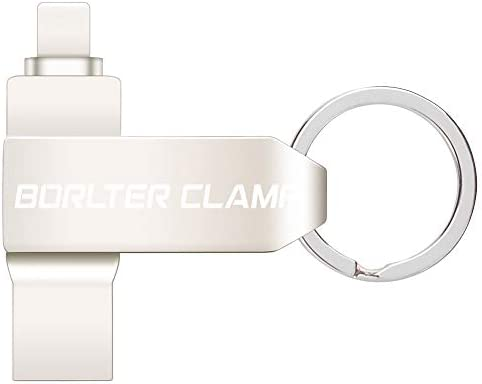 USB Flash Drive 256GB for iPhone 11 XR X 8 Plus 7 6s 5 iPad Laptop and Computer BorlterClamp product image