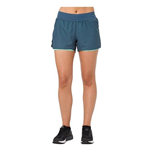 ASICS Short Cool 2-n-1 de 3.5 Pulgadas para Mujer, CoolTM 2-n-1® 3.5 Pulgadas Corto, Azul Oscuro, Large