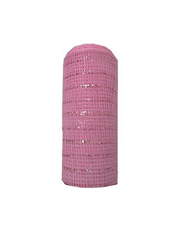 TMI Gifts Designer Netting, 10-Inch by 10-Yard, Baby Pink with Pink Foil