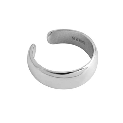 Minimalist Ear Cuff Clip On Earrings Sterling Silver Fashion Small Huggie Hoops Cartilage Wrap Earring Non Piercing for Women Girls Hypoallergenic (Silver)