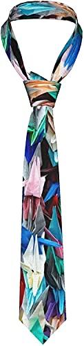Corbata de papel de origami, multicolor, para hombres, corbata, corbata, corbata, regalo ideal para bodas, fiestas, novios, bailes