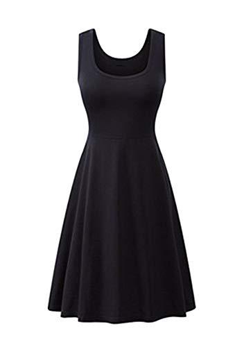 EFOFEI Vestido sin mangas para mujer, cuello en V, informal, de verano, estilo túnica