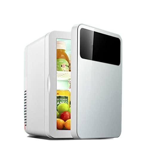 huasa Mini Refrigerador, Mini Nevera Portátil con función de Frío y Calor, Pequeña Neveras 220V/12V para Hogar, Oficio y Coche, Skincare, Alimentos, Cosmeticos, Bebidas (8L /6 Latas),White