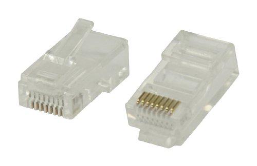 Valueline VLCP89300T Connettori RJ45 per Cavo UTP CAT5 Tipo Rigido in Bustina 10 pz