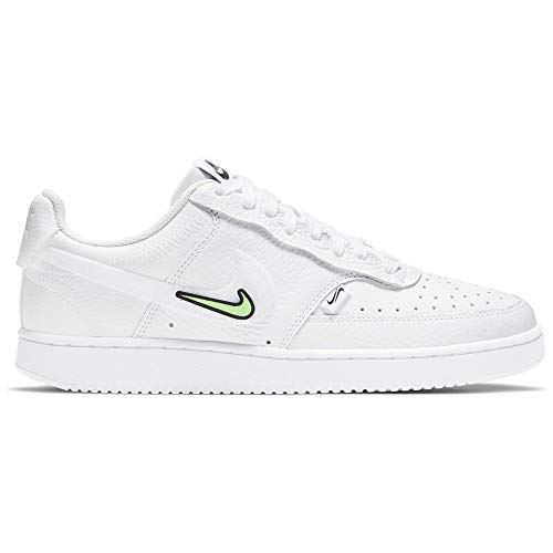Nike Wmns Court Vision LO VDAY, Zapatillas de bsquetbol Mujer, White White Black LT Liquid Lime LT Thistle Sunset Pulse, 40 EU