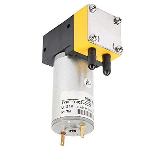 YepYes Vacuum Micro Bomba Bomba de Aire 0.4-1L / min Miniatura Bomba de diafragma Aire Agua 24V Aire de Bombeo Booster para Air Liquid