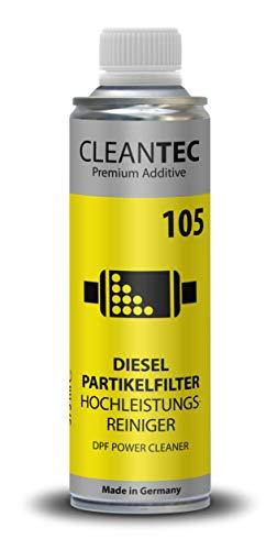 CleanTEC DPF Power Clean - Limpiador de alto rendimiento para filtro de partículas diésel 375 ml 105