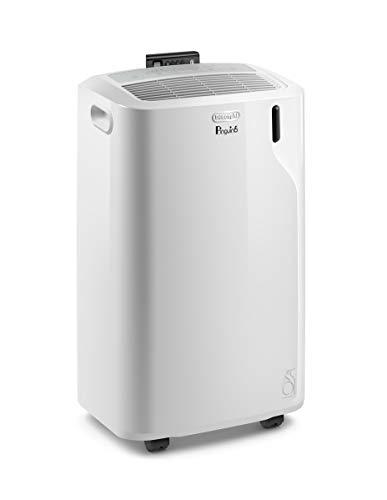 De'Longhi 11000 BTU Portable Air Conditioner, Dehumidifier & Fan + Quiet Mode & Includes Window Kit + Remote Control, 400 sq ft, Medium Room, Pinguino6000 (DOE), White