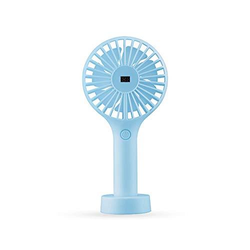feilai Travel Supplies 2000 mAh Wiederaufladbarer Handventilator für Büro Zuhause Outdoor USB Ventilatoren 3 Geschwindigkeiten Einstellbarer Lüfter (Farbe: Blau)