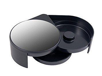 Black w/ Stainless Steel Top 3-Tier Salt Rimmer