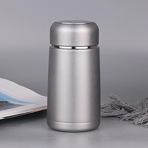 PPuujia Mini termo de café de acero inoxidable para viajes, taza y taza termo (capacidad: 320 ml, color: gris claro)
