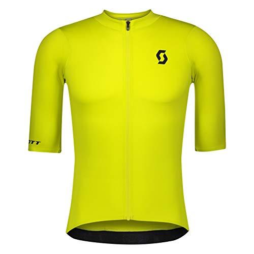 Scott RC Premium - Maglietta da ciclismo, corta, colore: giallo, 2021, taglia: M (46/48)