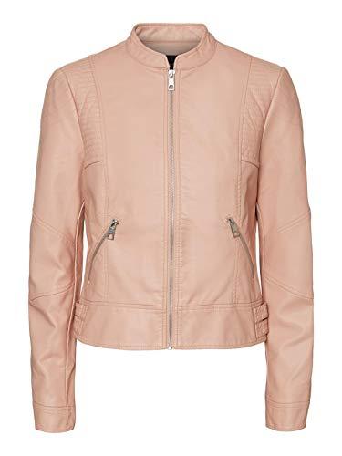 Vero Moda Vmriamarta Short Coated Jacket Pi Chaqueta de cuero sintético para Mujer