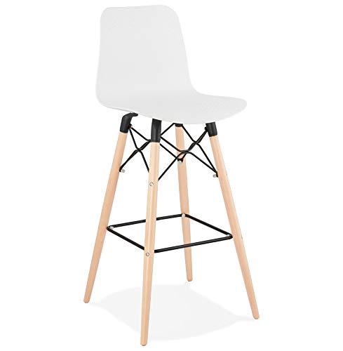 Alterego Tabouret de Bar Design 'MOZAIK' Blanc Style scandinave