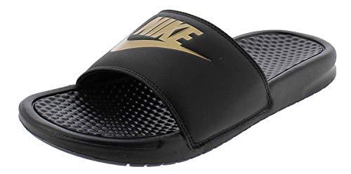 Nike Benassi JDI, Slide Sandal Hombre, Black Metallic Gold, 44 EU