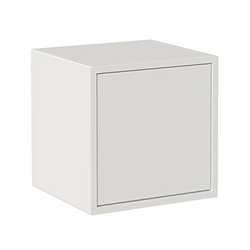 Iconico Home QBE Cubo da parete, con anta apertura a pressione, Ingresso, Soggiorno, Camera da letto, Cameretta ragazzi, Studio, 37,5x35xh37,5 cm, Bianco