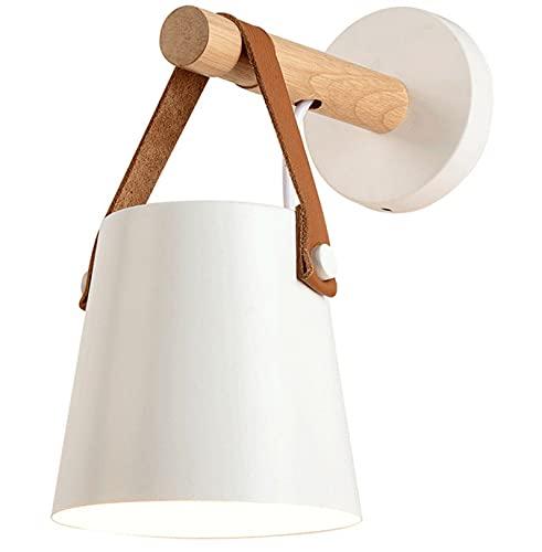 E27 Metallo Lampada da Parete Moderne Lampada Muro Dipinta Applique da Parete Lampada Muro Perfetto per Camera da Letto, Soggiorno, Bagno, Corridoio, Scale (Bianco)