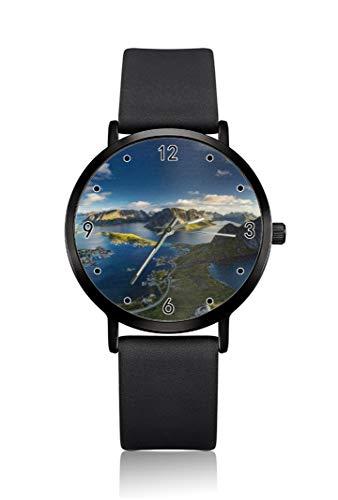 Earth of the World, orologio da polso da uomo, cassa ultra sottile, quadrante analogico minimalista, cinturino sottile, movimento al quarzo giapponese