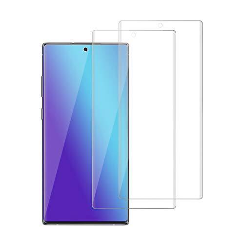 [Lot de 2] Film de Protection d'Écran pour Samsung Galaxy Note 10 Verre Trempé, [Couverture Complète][9H Dureté][Ultra Résistant][Ultra Clair][Anti Rayures][HD Ultra Transparent]