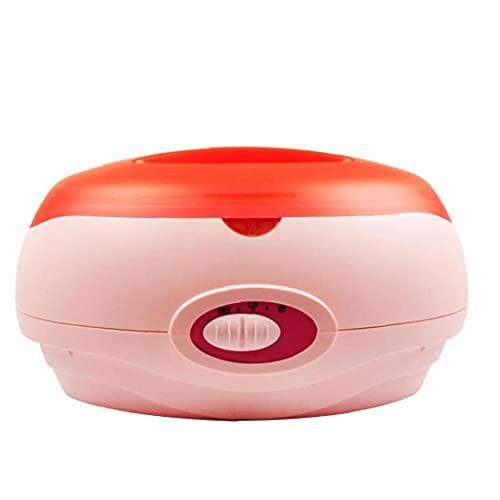 La eliminación de la cera de parafina Calentador Calentador de pelo Tool Kit profesional de la máquina para el hogar piernas pista todo el cuerpo de color rosa, belleza Productos enchufe de la UE