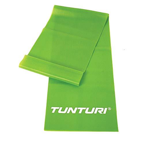 Tunturi-Fitness Tubing Banda Elástica, Unisex Adulto, Verde, Talla Única