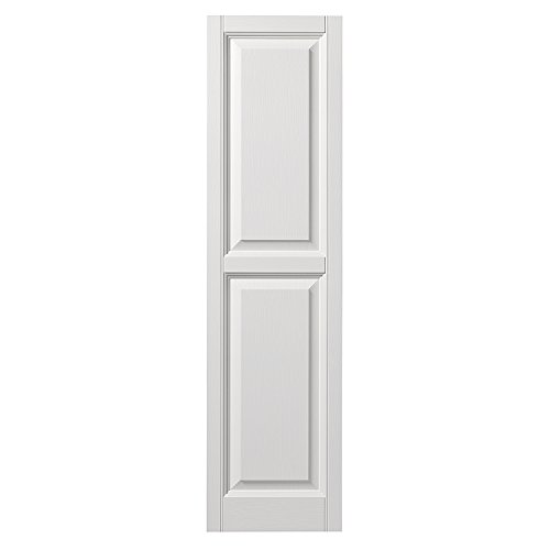 Ply Gem Shutters and Accents VINRP1559 11 Raised Panel Shutter, 15