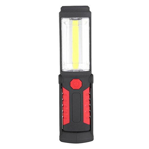 LED-fackelhållare med hållare bärbar COB magnetisk arbetsbelysning Lumen 360 trådlöst uppladdningsbar fackla med USB-laddningskabel perfekt för campingverkstad Bilmärke röd