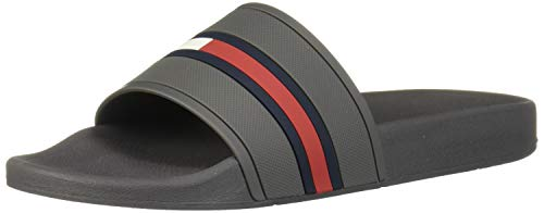 Tommy Hilfiger Men's Fallop Slide Sandal, Grey, 9 M US