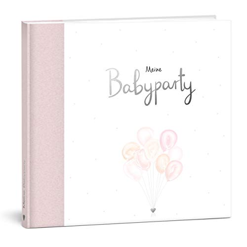 MINTKIND® Meine Babyparty - Gästebuch und Fotoalbum zur Baby Shower Geschenk für eine unvergessliche Party I Hardcover Album Mädchen rosa